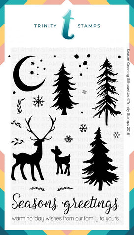 Seasons Greetings Silhouettes 4x6 Stamp Set
