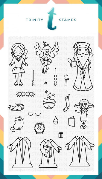 4x6 Wizard Friends Stamp Set