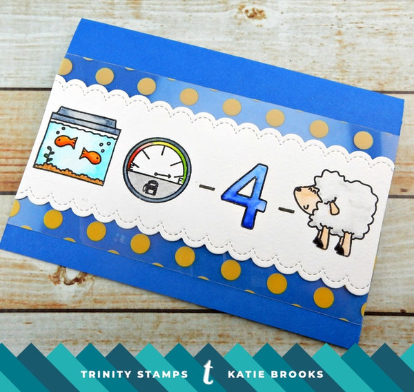 Picture Sentiments 4x8 Stamp Set