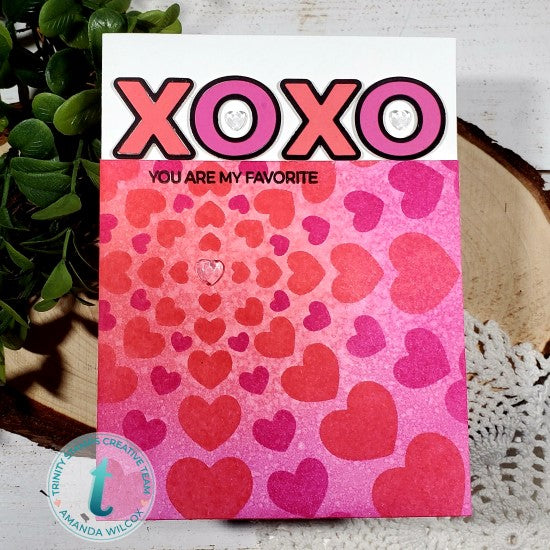 Heartburst - 6x6 Laser Cut 2-Piece layering Stencil Set