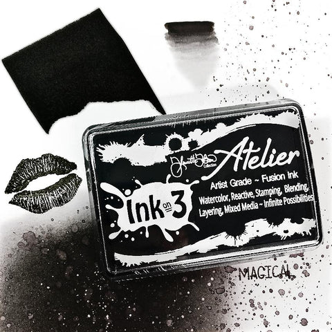 InkOn3 - Atelier Paint It Black ~ Artist Grade Fusion Ink Pad