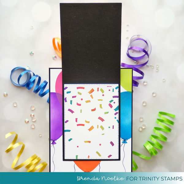 Slimline Layered Confetti- 6x9 Laser Cut 2-Piece Stencil Set