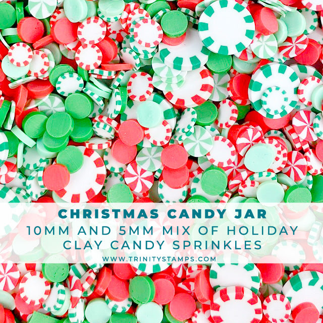 Christmas Candy Jar - Holiday Sprinkles Embellishment