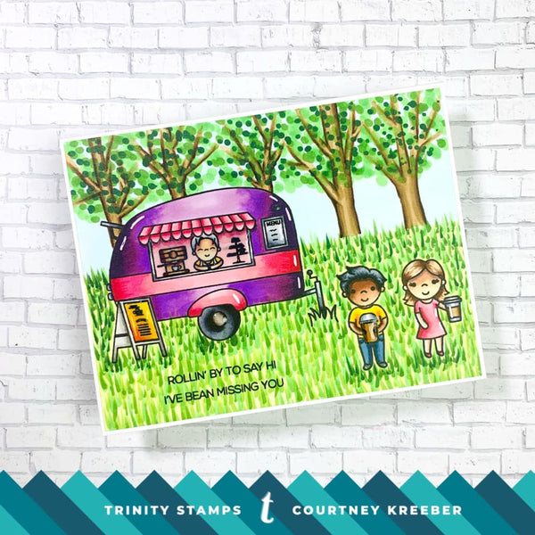 The Frappy Camper's PERKing Spot 4x6 Stamp Set *Trinity & CLC Exclusive Collaboration set*