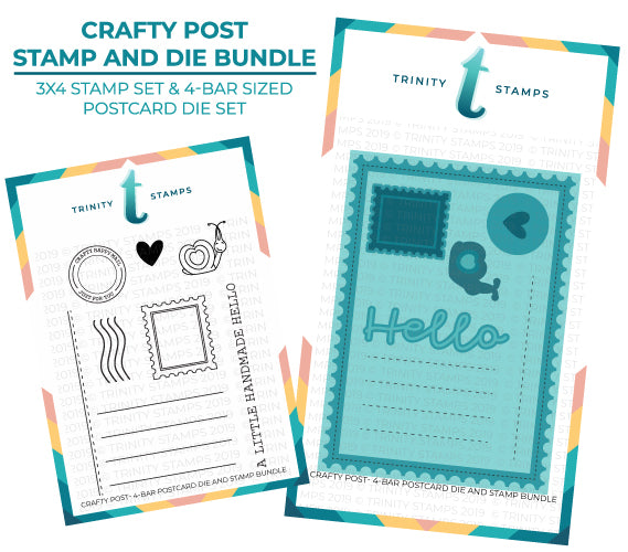 Crafty Post - 3x4 Stamp & Postcard Die Bundle
