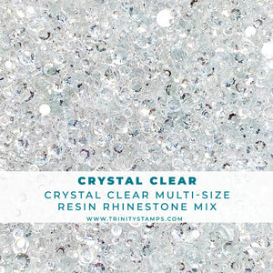 Crystal Clear Rhinestone Embellishment Mix