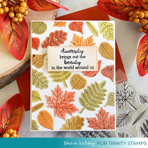 Autumn Rainbow 4x4 Stamp Set