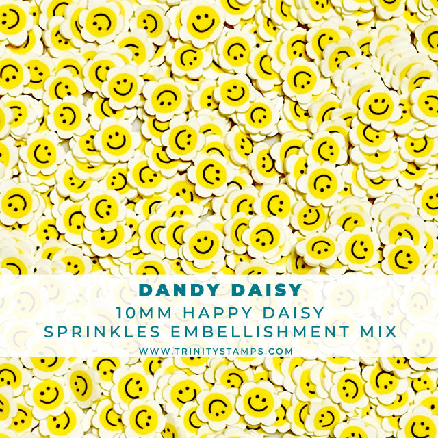 Dandy Daisy - Clay Flower Sprinkles Embellishment Mix