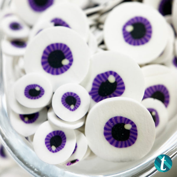 Dot Your Eyes- Mixed Violet Monster Eyes Sprinkles