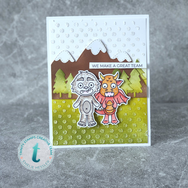 Slimline Card Series: Wonky Stitched Wilderness Die Set