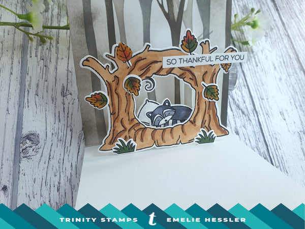 4X8 Sleepy Hollow Clear Photopolymer Stamp Set