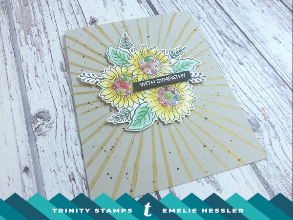 4x6 Sunflower Bouquet Builder Clear Photopolymer Stamp Set
