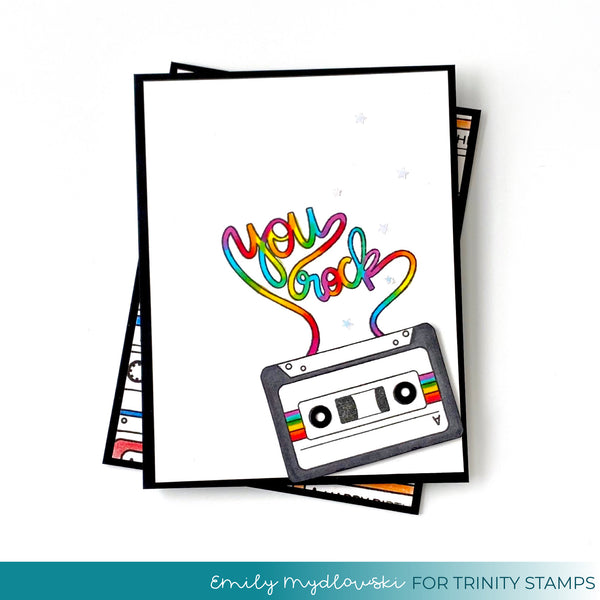 3x4 You Rock Stamp Set