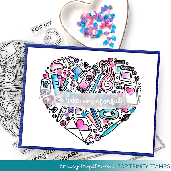 A Crafters Heart Clear Photopolymer 4x6 Stamp Set