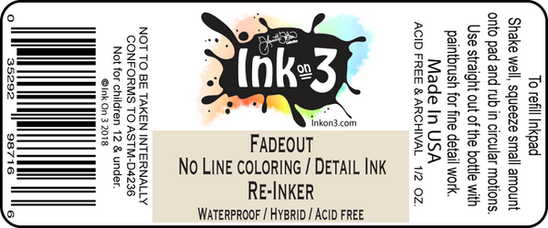 InkOn3 - Re-Inker for Fadeout No Line coloring Detail Ink