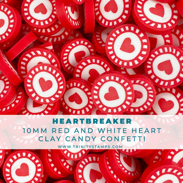 Heartbreaker - 10mm Red Heart Candy Sprinkles