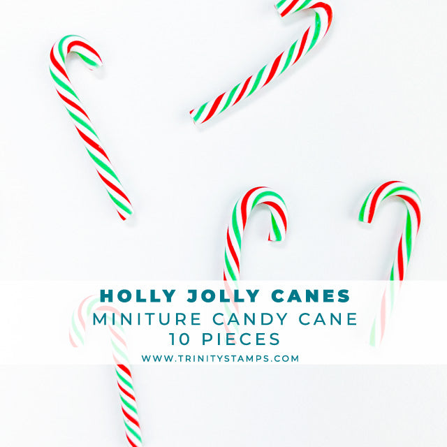 Holly Jolly Candy Cane Embellishments