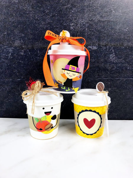 Mini Coffee Cup Sleeve and Decor Die Set