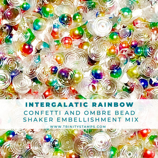 Intergalatic Rainbow- Confetti & Bead Embellishment Mix