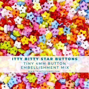 Itty Bitty Star Buttons - 4mm button assortment