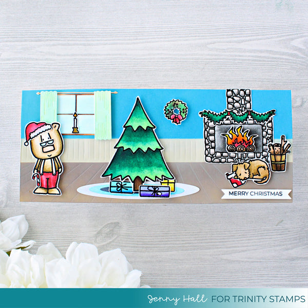 Cozy Christmas Cottage Coordinating Die Set