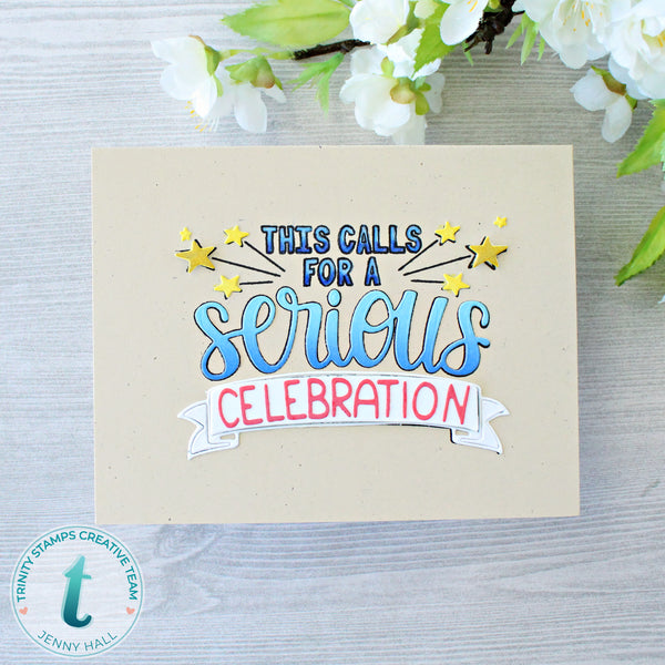 3x4 Serious Celebration Stamp