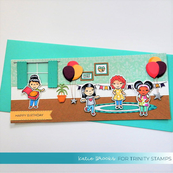 4x6 Classroom Cuties Stamp Set