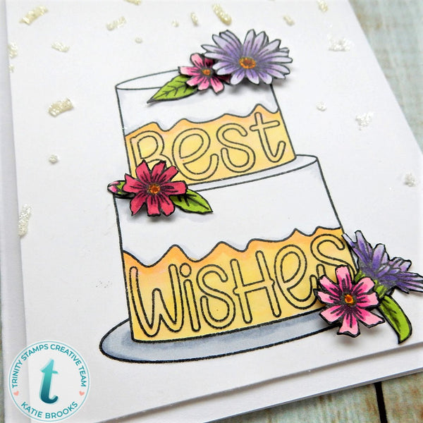 3x4 Best Wishes Stamp