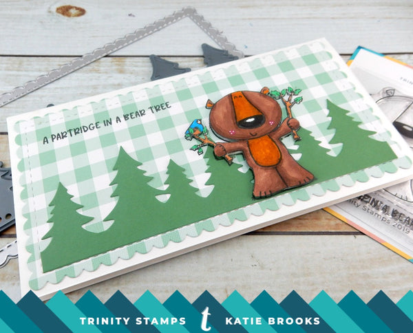 Bear Tree 3x3 Stamp set