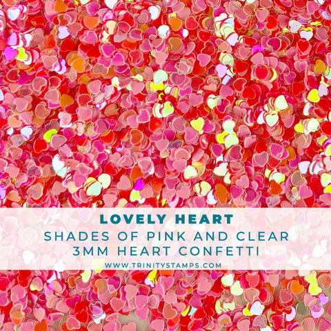Lovely heart - Itty-bitty iridescent heart confetti mix