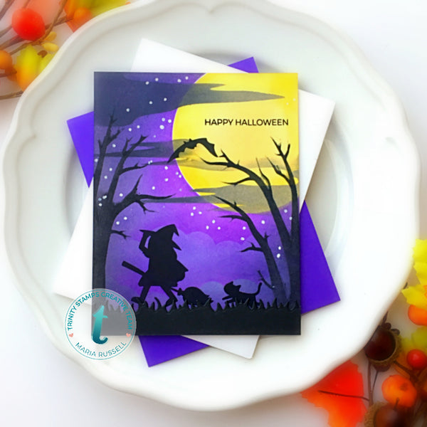 "October Night Sky-  6x6"" Laser Cut 2-piece Layering Stencil Set"
