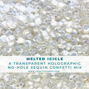 Melted Icicle - Clear Twinkle No-Hole Sequin Confetti
