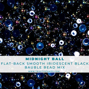 Midnight Ball- Flat-Backed Smooth Bead Mix