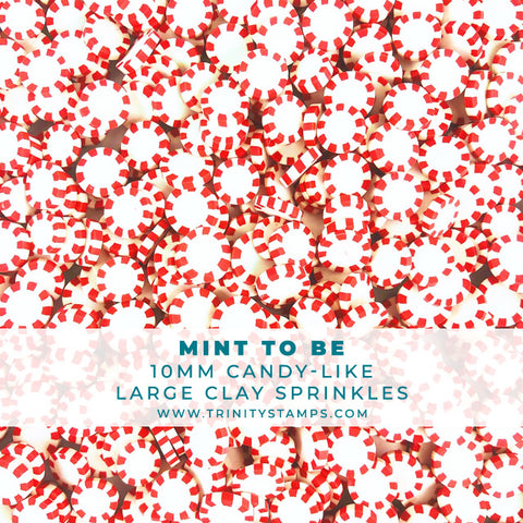 Mint to Be- 10mm Candy-like Clay Sprinkles Mix