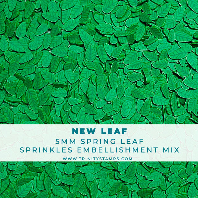 New Leaf - Clay Leaf Sprinkles Embellishment Mix