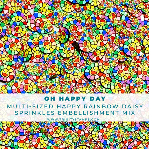 Oh Happy Day - Clay Flower Sprinkles Embellishment Mix