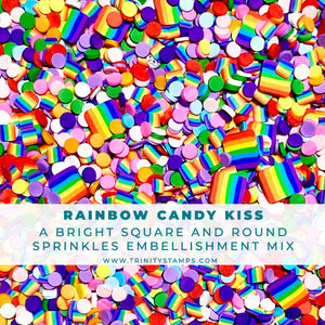 Rainbow Candy Kiss- Clay Sprinkles Embellishment Mix