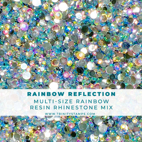Rainbow Reflection - Flat-Backed Rhinestone Mix