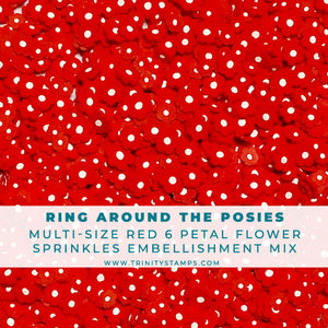 Ring Around The Posies - Clay Flower Sprinkles Embellishment Mix