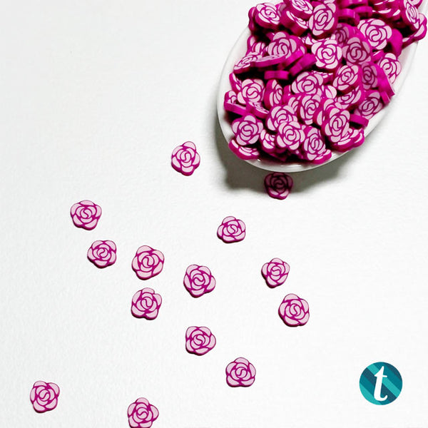 Rose Parade - Clay Flower Sprinkles Embellishment Mix