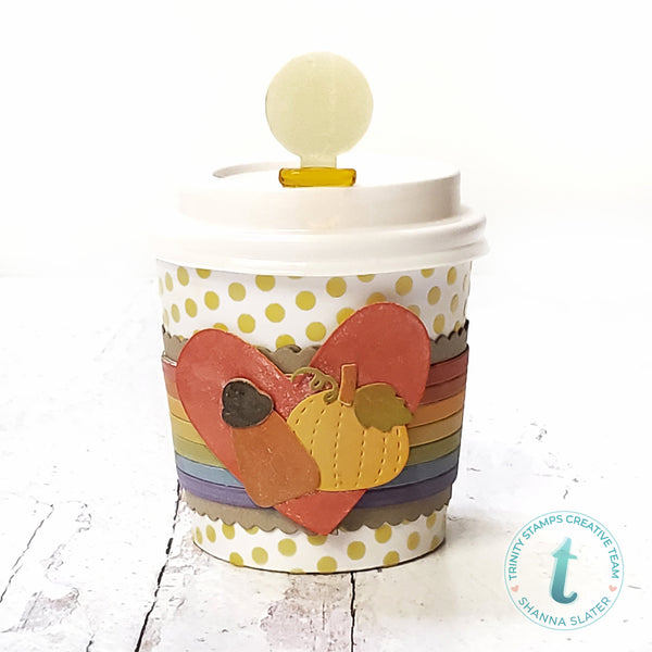 Mini Coffee Cup - Rainbow Hugs Add-On Die Set