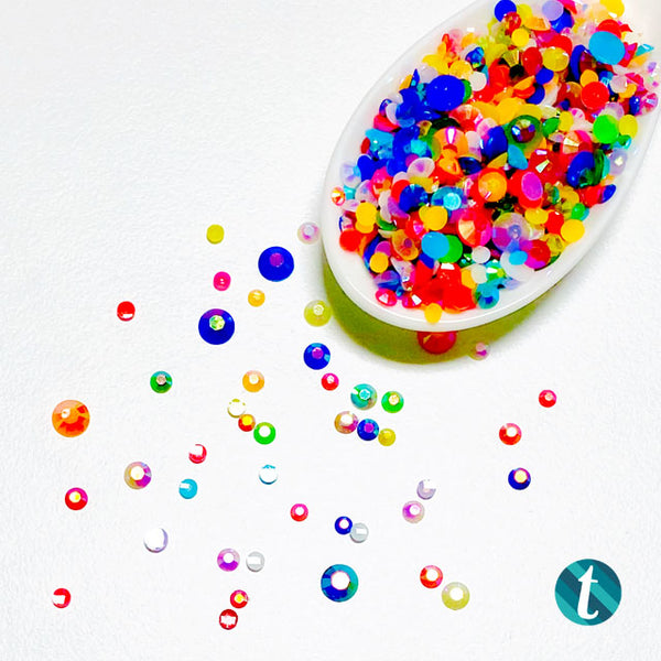 Sprite Sprinkles - Flat-Backed Resin Rhinestone Mix