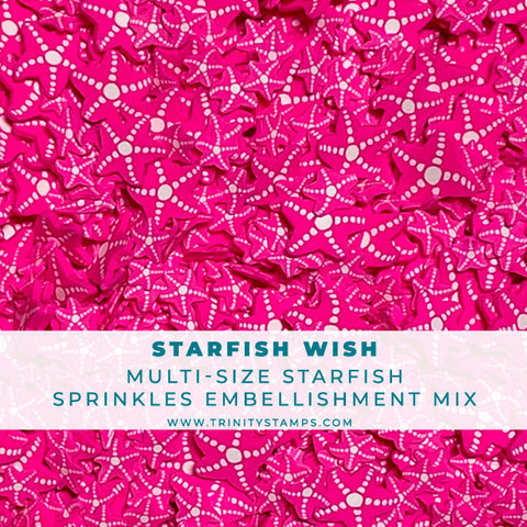 Starfish Wish- Clay Sprinkles Embellishment Mix