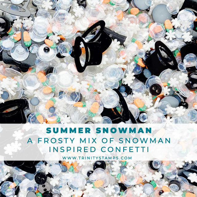 Summer Snowman Embellishment Shaker Mix