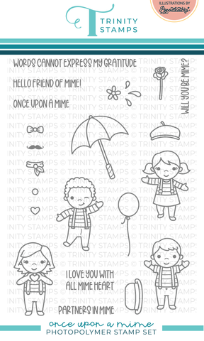 Once Upon A Mime 4x6 Stamp Set