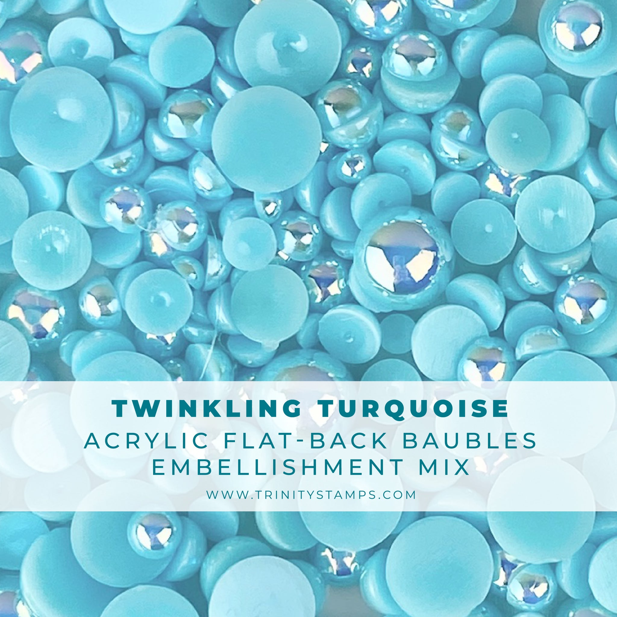 Twinkling Turquoise Baubles Embellishment Mix