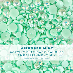 Mirrored Mint Baubles Embellishment Mix