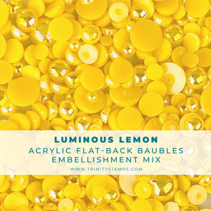 Luminous Lemon Baubles Embellishment Mix