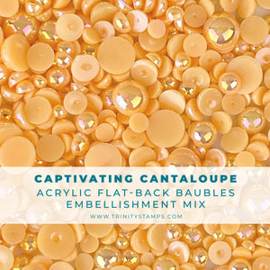 Captivating Cantaloupe Baubles Embellishment Mix