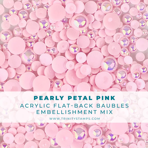 Pearly Pink Baubles Embellishment Mix